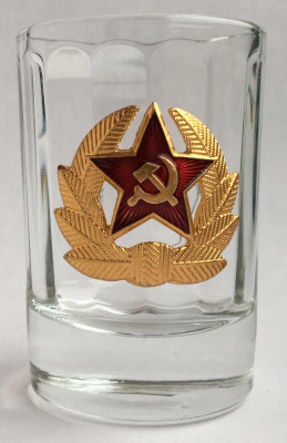 Red Army soldier Insignia Shot Glass