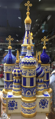 Saint Basil's Cathedral Gzhel Art Music Box