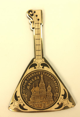 Balalaika vs Snt Basil Cathedral Fridge Magnet made of birch Vera Crafts