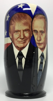 120 mm Putin & Trump and  Clinton & Yeltsin Gorbatchev & Reigan Matryoshka Doll 5 pcs (by 3A Studio)