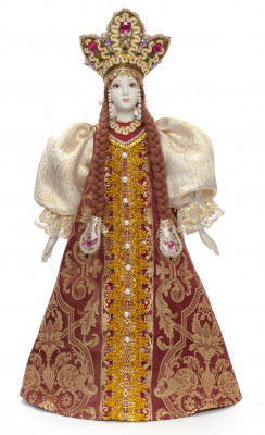 The Princess in a Gold Dress hand-sewn Porcelain Doll - 21 Inches