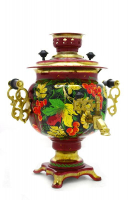 Maple Leaves Hand Painted Electric Samovar Kettle