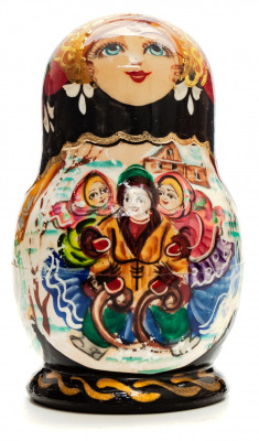 110mm Mother with Daughters hand painted Matryoshka doll 5pcs