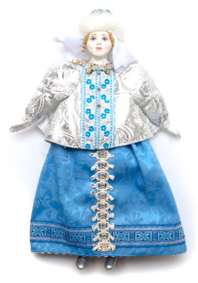 The Snow Maiden Princess hand-sewn Porcelain Doll - 16 Inches