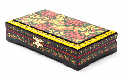 180x100 mm Khokhloma Painting Jewellery Wooden Box
