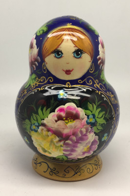 140 mm Summer Flowers Matryoshka Doll 10 pcs (by Summer Shine)