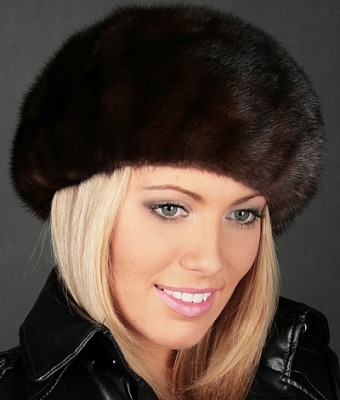 U Mink Fur Beret (different color)