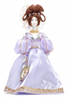 Russian Girl hand made Porcelain Doll in a 19th century Dress - 11 Inches (by Le Russe)