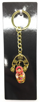 Russian Matryoshka with Ear Rings Key Chain (by AKM Gifts)