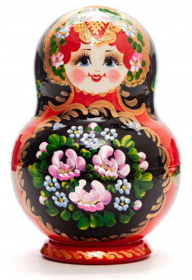 140 mm Flowers Patters hand painted Wooden Matryoshka Doll 10 pcs inside