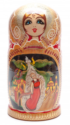 220 mm One Thousand and One Nights handpainted Wooden Matryoshka Doll 7 pcs (by Valery Crafts)