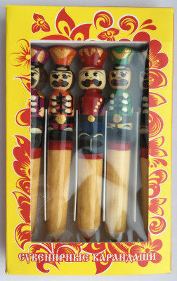 Russian Hussar Hand Painted Pencil Set