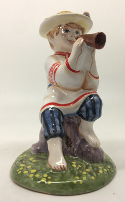 Herder Russian Boy hand painted Ceramic Statue (by Maiolica)