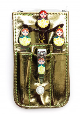 Three Sisters Manicure Set in a case (by Natasha Beauty)