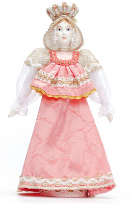 Russian Beauty hand made Porcelain Doll with Crown - 11 Inches (by Le Russe)