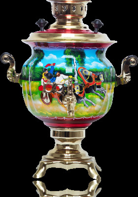 Summer Troika Hand Painted Electric Samovar Kettle
