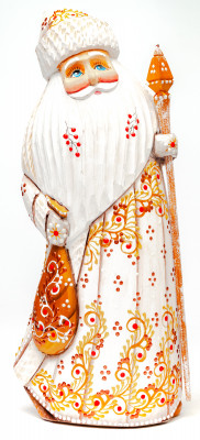 230 mm Santa Claus hand carved and painted wooden statue (by Natalia Workshop)