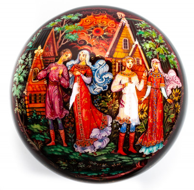 100x60mm The Ring Hand Painted Jewellery Box (by Sadko Workshop)