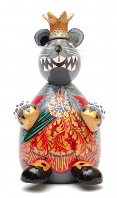 150 mm The Mouse King hand carved and painted wooden Figurine (by Andrey Crafts)