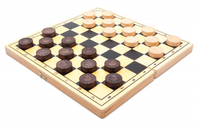 285x285 mm Сheckers  Wooden Board (by Alexander Chess Studio)