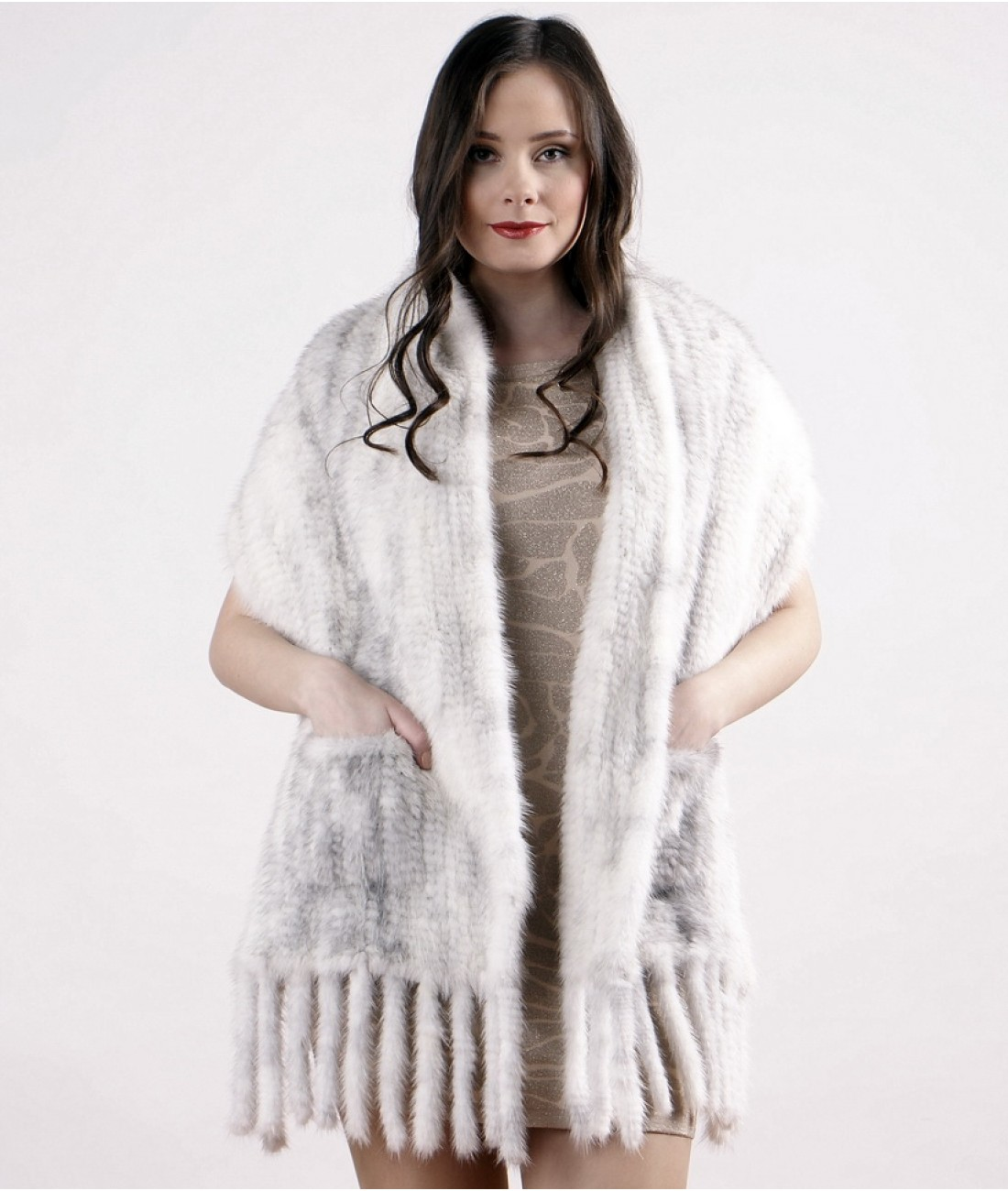 40cm Cross Mink Fur Stole