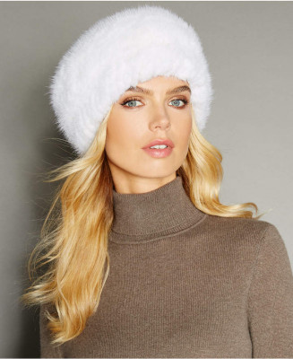 U Knitted Mink Fur Headband