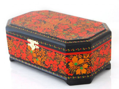 Khokhloma Painting Jewellery Wooden Box 230x140 mm