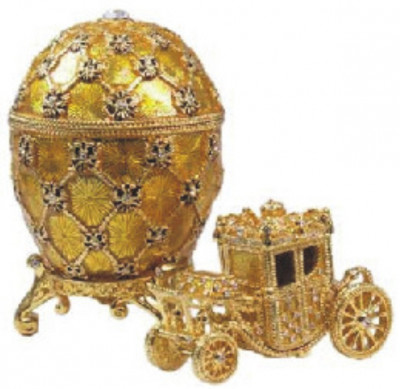 30 mm Imperial Coach and Gold Imperial Coronation Easter Egg