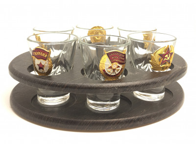 Mini-Bar Set With Metal Badges
