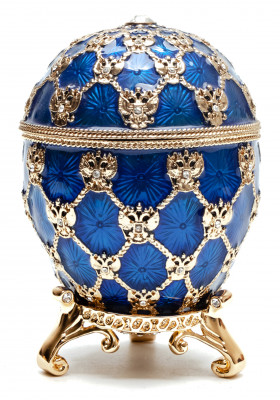 96 mm Imperial Coach and Dark Blue Imperial Coronation Easter Egg