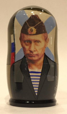 120 mm Putin in navy uniform Handmade Matryoshka Nesting Doll 5 pcs