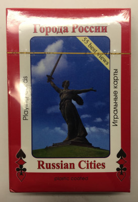 55 Cities of Russia photos Paper Playing Cards (by AKM Gifts)