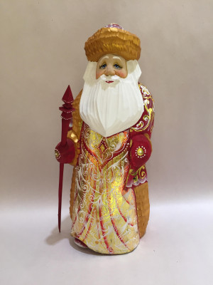 ded moroz in russian coat