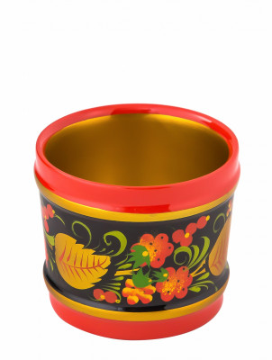 60x70 mm Khokhloma hand painted wooden Goblet (by Golden Khokhloma)