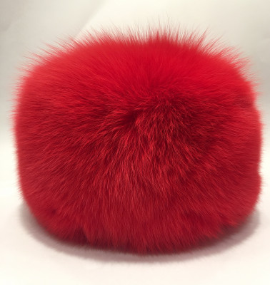 Red colored Fox Fur All Round Hat