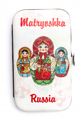 Matryoshka Russia Metal Manicure Set in a hard case (by AKM Gifts)