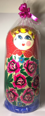 480 mm Russian Maidan Patterns hand painted Wooden Matryoshka Doll 30 pcs inside (by Ivan Bezrukov Studio)