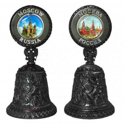 100 mm Snt Basil Cathedral and Moscow Kremlin Metal Bell (by AKM)