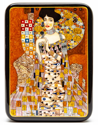 110x150mm Portrait of Adele Bloch-Bauer I Hand Painted Jewellery Box (by Tatiana Shkatulka Crafts)