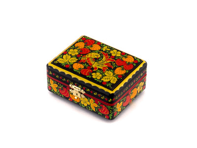 Khokhloma Painting Jewellery Wooden Box 90x70mm