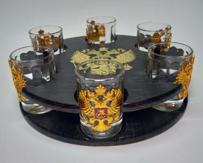 Russia Coat Of Arms Mini-Bar Set