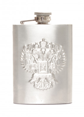 4 oz Russia Coat of Arms Metal Flask