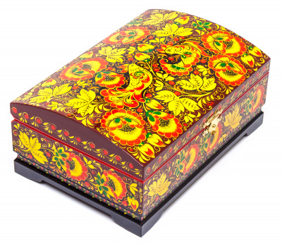 180x120mm Khokhloma Painting Jewellery Wooden Box