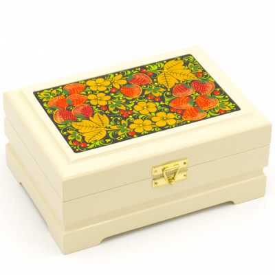 Khokhloma Painting Jewellery Wooden Box 170x120 mm