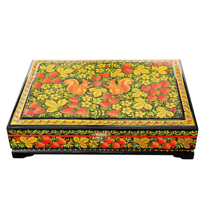Khokhloma Painting Jewellery Wooden Box 330x240mm
