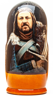 180mm Game of Thrones Hand Painted Matryoshka Doll 5 pcs (by Konstantin Studio)