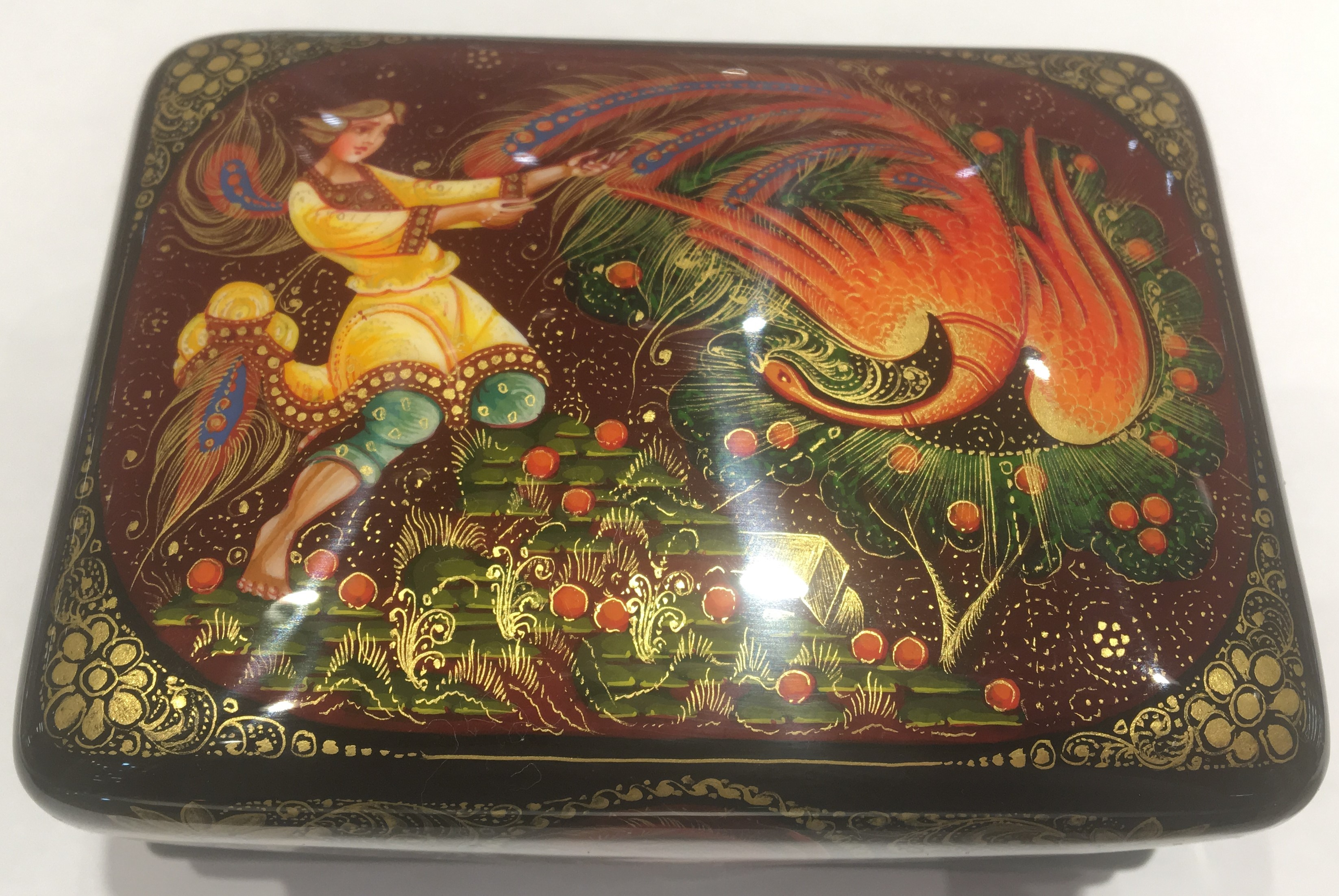 The Firebird Lacquered Box from Kholui