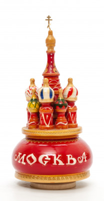 190 mm Saint Basil's Cathedral hand painted Wooden Music Box (by Nightingale Crafts)