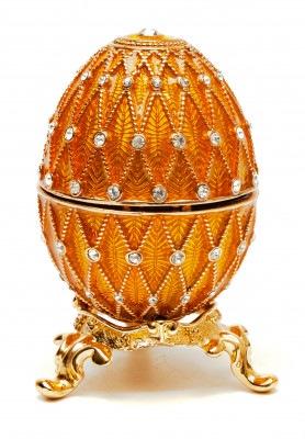 70 mm Golden Easter Egg with the Clock