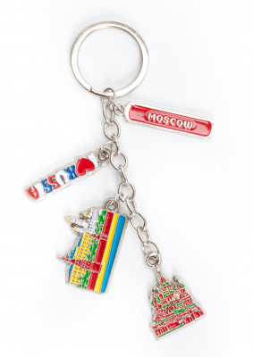 Moscow Famous Buildings Metal Key Chain (by AKM Gifts)